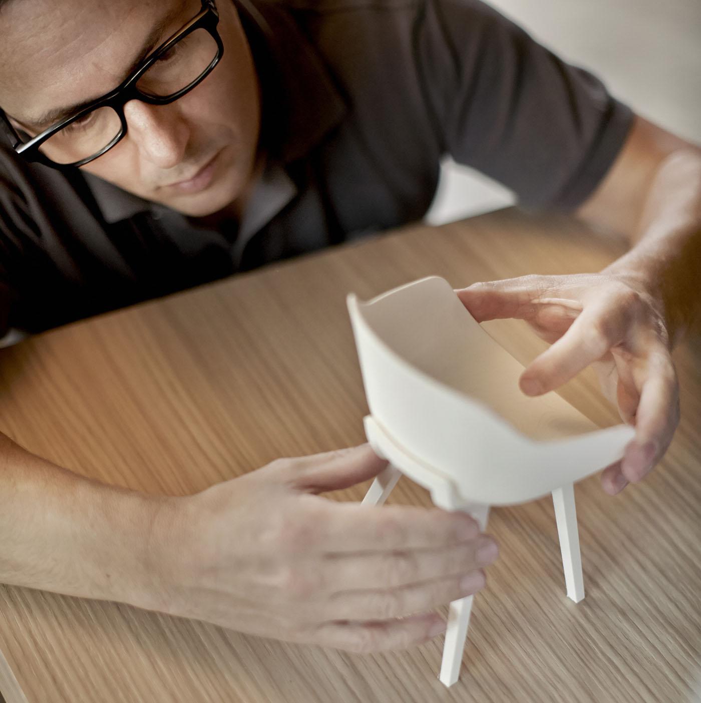 3D scale model of the Kuskoa Bi bioplastic chair