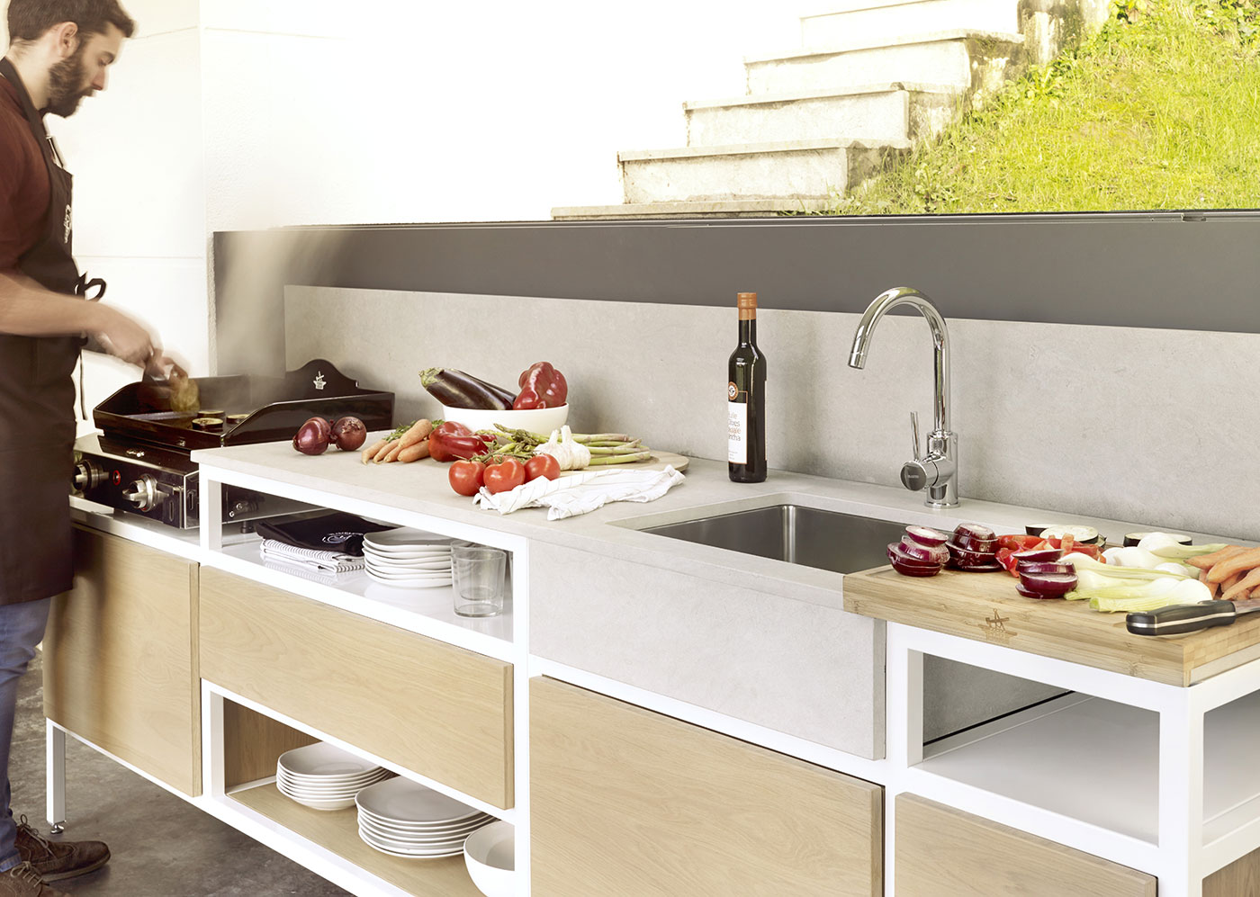 cuisine ext rieure design. Black Bedroom Furniture Sets. Home Design Ideas