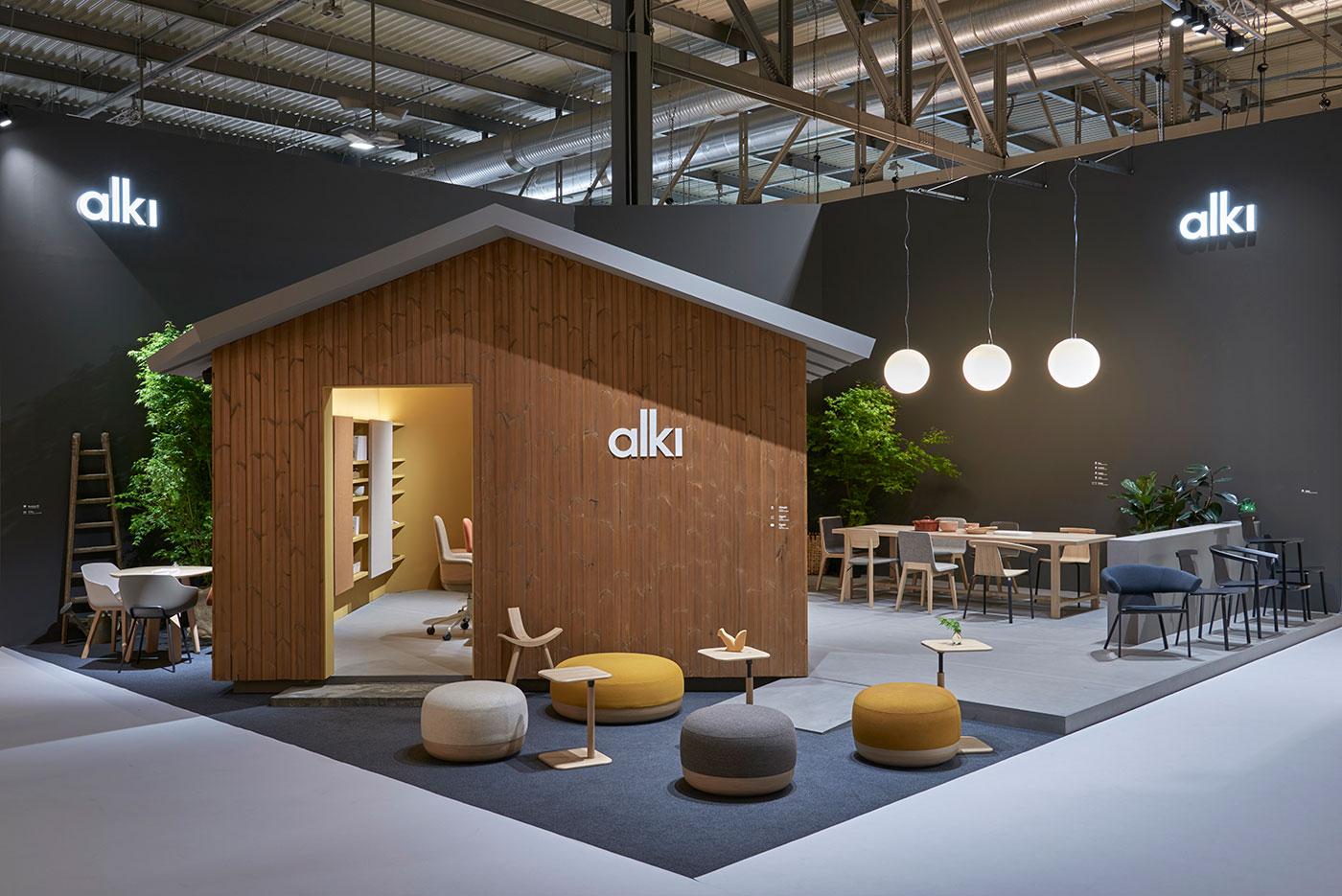 Stand design for Alki during the Milan Furniture Fair, by Iratzoki & Lizaso