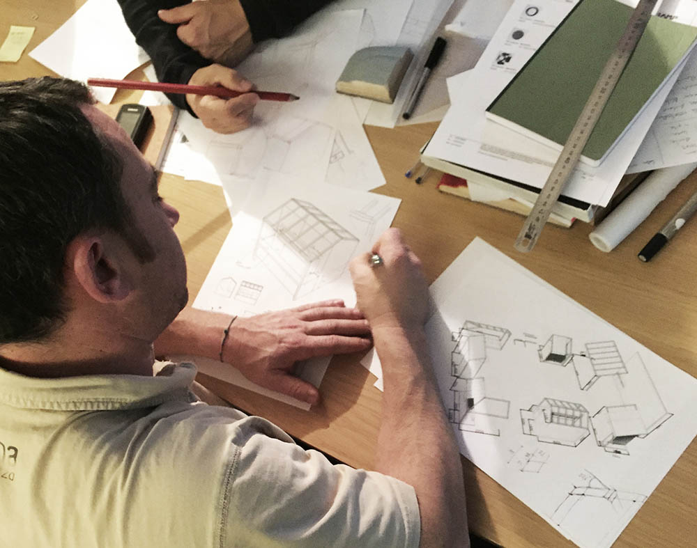 Working on the design of the Alki Stand Maison&Objet 2016